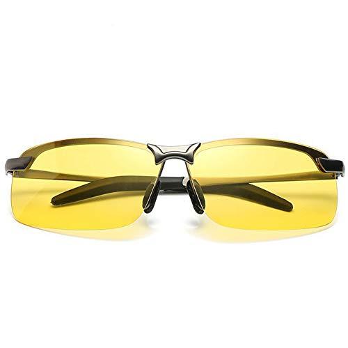 LVIOR Nachtsichtbrille Anti-Glanz Fahren Brillen Kontrast-Brille Nachtfahrbrille Nachtsichtbrille Autofahren-Gelbe Spezial Brillengläser,Schwarz