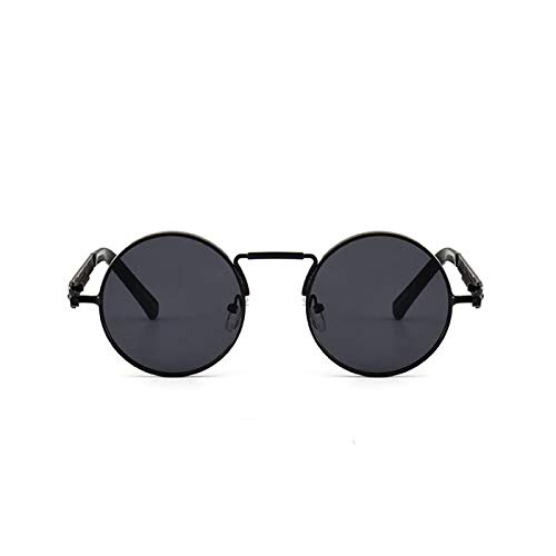 Daawqee Round Circle Steampunk Sunglasses Men Women