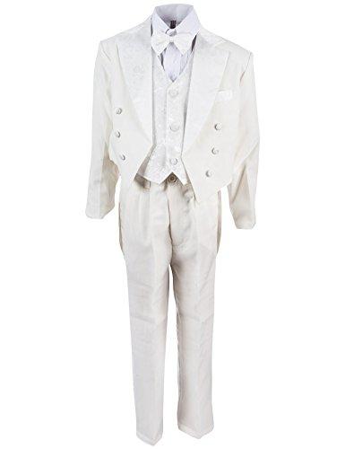 Festlicher Jungen Smoking Anzug 5 tlg. mit Weste oder Kummerbund in 3 Farben (3M / 56 / 62, #14 Beige mit (Und Schuhe Smoking Weißen Schwarz)