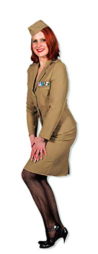 Kostüm Offiziersdame - Horror-Shop Millitärs Damen Kostüm XS /