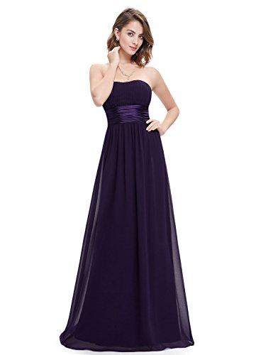 Ever Pretty Damen Empire Taille Schulterfrei Lange Abendkleider 38 Größe Violett EP09955DP06