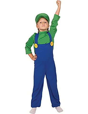 Costumes Enfant Luigi Classique - Child Boys Girls Super Plumbers Mate Game