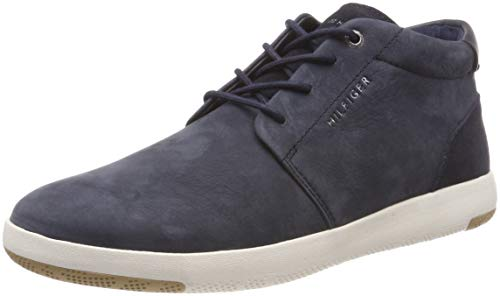 Tommy Hilfiger Herren Light Nubuck LACE UP Boot Hohe Sneaker, Blau (Midnight 403), 42 EU
