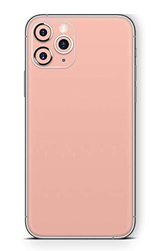 Skins4u Ultra Slim Schutzfolie für iPhone 11 Pro Max Skins Matte Oberfläche Aufkleber Skin Klebefolie Kratzfest Case Cover Folie Solid State Peach