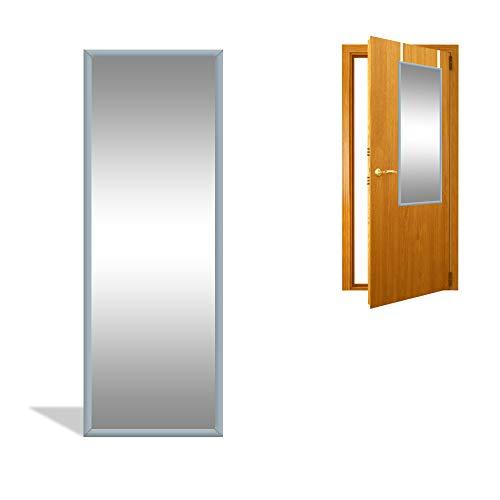 DRULINE Türspiegel Wandspiegel Garderobenspiegel Spiegel Ganzkörperspiegel Dekoration| 34cm x 94 cm x 1.5 cm | Grau