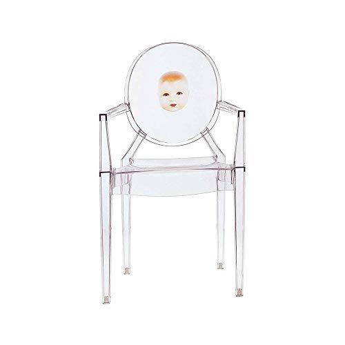 Kartell Louis Ghost fauteuil transparent cristal avec image enfant