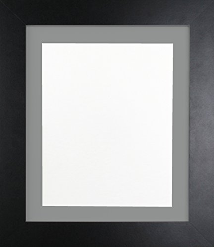 Frames By Post Schwarz Foto Bild Poster Rahmen mit dunklem Grau Passepartout, holz, 39mm Frame, 6