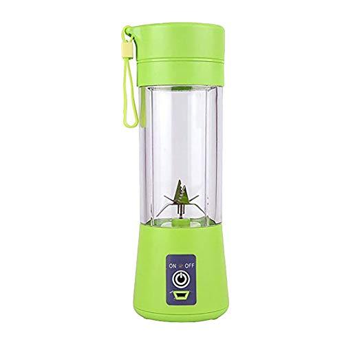 HshDUti Mini Portable USB aufladbare Haushalts Obst Entsafter Cup Squeezer Mixer Maschine Grinder Crusher Green (Schleifer Für Weed Green)