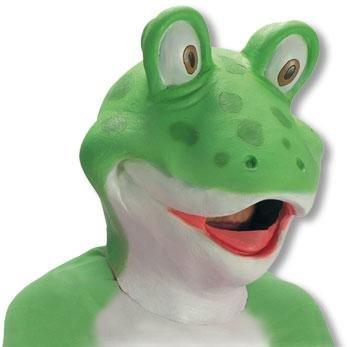Frosch Latex Maske (Tim Burton Herzkönigin)