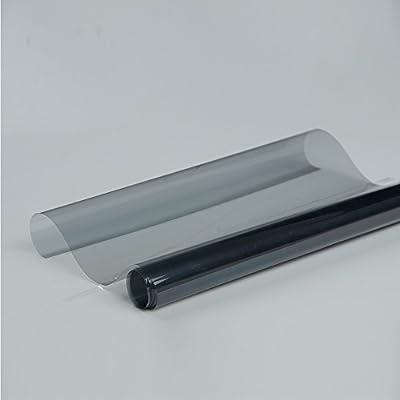 [Hoho] Gris clair Colle film solaire teinté pare-brise de voiture film teinté pour vinyle UV et rejet de la chaleur de grande qualité