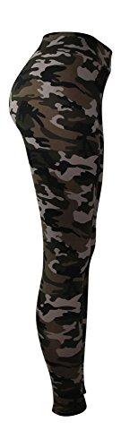samtweiche Damen Leggings mit Muster - new styles - Leggins Sport Sterne bunt sexy tarnmuster Tarn khaki