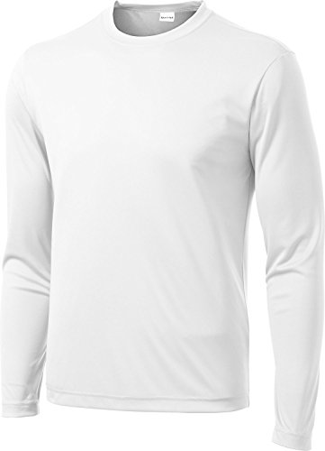 Adult Long Sleeve Tee WHITE - 2XL -