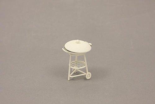 Unbekannt Miniatur Modell Minigarten, Grill, weiß Höhe ca. 6,3cm