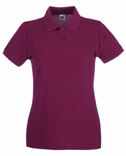 Fruit of the loom lady-fit premium polo 63–030–0 Rouge - rouge