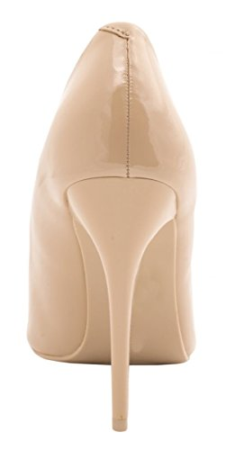 Pompe Da Donna In Pizzo Elara | Comodi Stiletti Laccati | Tacchi Eleganti Beige-perla