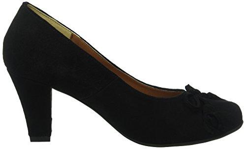 Andrea Conti - Da.-pumps, Scarpe col tacco Donna Nero (Schwarz (Schwarz 002))