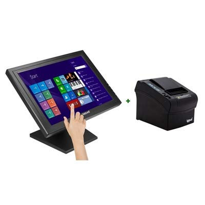 iggual KIT Monitor Táctil 15 + Impresora térmica