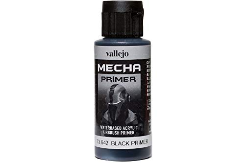 Vallejo 60ml'AV Mecha colore acrilico Airbrush Colour-Black primer