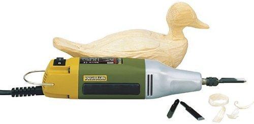 Meißel A Motor Profi MOS Proxxon MicroMot Typ. 28644mit 3Messer in Ausstattung, für Schreiner Modellbauer und künstlerische Schnitzer. Für Modellierung jedem Typ von Holz, für die Erneuerung und die Verarbeitung von Möbel, Restaurierung der Antike.