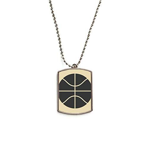 QQJSY Halskette mit Anhänger für Basketball, Edelstahl, einfache Geometrie