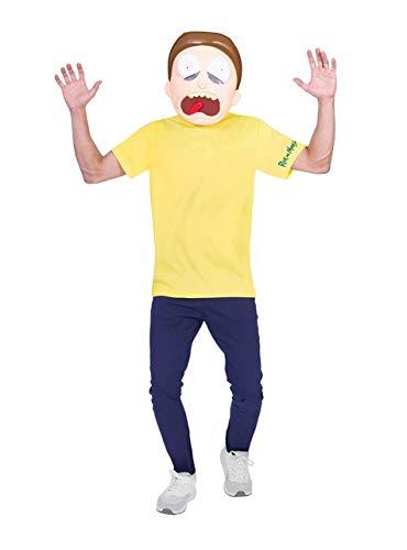 Amscan Morty - Rick and Morty Kostüm Jugendliche Teenager Jungen (Kostüm Für Teenager Jungen)