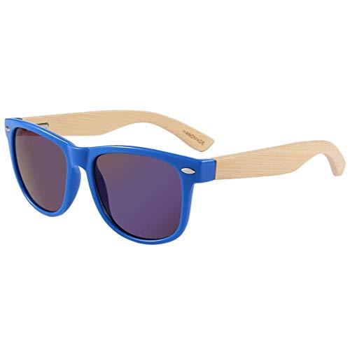 Mode im Freien Bunte Farbe mit Metallfeder Scharnier, Männer und Frauen reflektierende Gläser polarisierte Gläser (Farbe: blau)