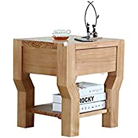 Preisvergleich für Small coffee table Haushalts-Feste Holz-Möbel-Nachttisch-Multifunktionsschließfach-Sofa-Beistelltisch, einfach, Fächer zu säubern, passend für Schlafzimmer/Wohnzimmer, 40 * 50 * 50CM,