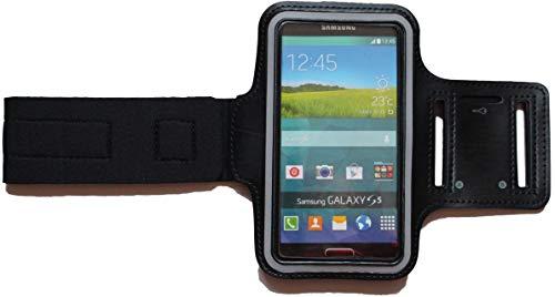 Sport-Armband Schweißfest Schutz-Tasche für Google Pixel 3a Fitness Handy-hülle Arm-Tasche mit Kopfhöreranschluss, Laufen, Blank L Schwarz