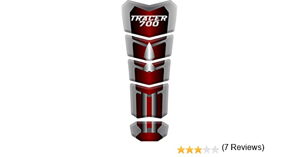 RESINATO EFFETTO 3D compatibile con Yamaha Tracer 900GT PARASERBATOIO ADESIVO Bianco//Rosso