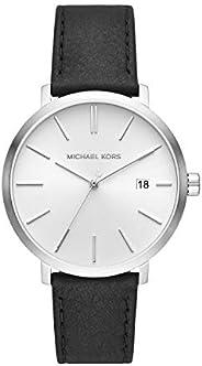 Michael Kors Blake Men's White Dial Leather Analog Watch - MK