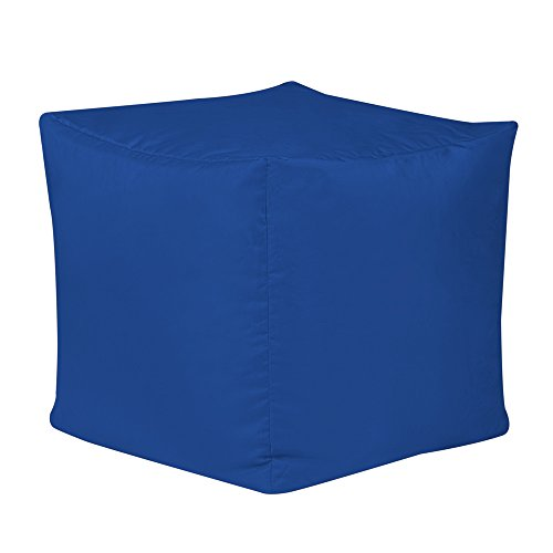 Bar B Cube Sitzsack-Hocker, blau, für Innen- und Außenbereich - wasserdicht.