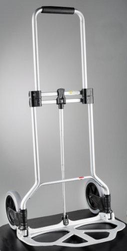 WENKO 8074500 Transportkarren Slim Alu - zusammenklappbar, Aluminium, 50 x 102 x 47 cm, Silber