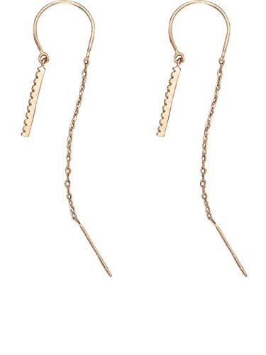 JJLEZl U-Förmigen Kleinen Diamanten Sterling Silber Ohr Draht Weibliche Lange Temperament Ohrringe (U Mann Kostüm Kind Kleine)