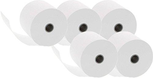 Genie Additionsrollen (Ersatz-Papierrollen, geeignet für Kassen und druckende Tischrechner, 40 lfm, 100% Holzfrei, 57 x 12 mm) 25 Rollen