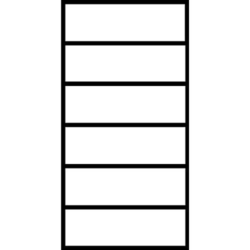Karteischrank, BxTxH 552x600x1350 mm, zweibahnig, 6 Schubl. DIN A5, Selbsteinzug, Griffleiste, reinw (Lager Mauser)