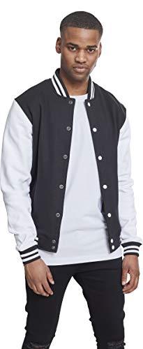 Urban Classics Herren Jacke 2-Tone College Sweatjacket, Mehrfarbig (Blk/Wht 00050), XXXXX-Large