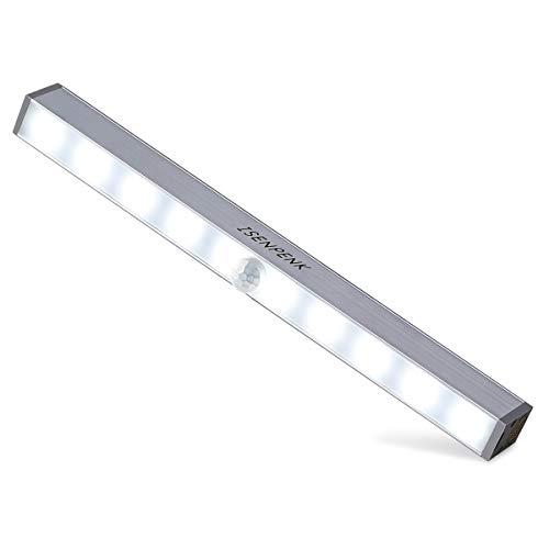 ISENPENK LED Schrankbeleuchtung kabellos 10 Lichter Nachlicht Auto On/Off PIR bewegungsmelder Sensor USB Aufladen für Schrank Garderobe Flur Treppehaus Garage Schlafzimmer usw.