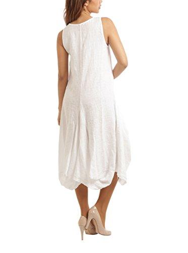 MAISON DU LIN Damen Kleid Weiß