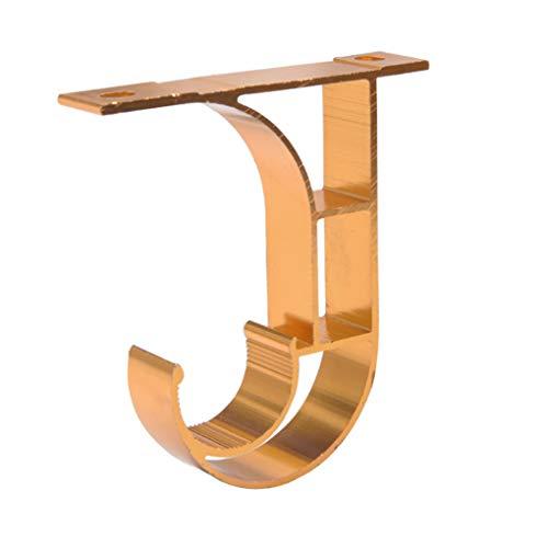 meisijia Porte-Romain Rod en Alliage d'aluminium Tringle à Rideau Accessoires Universellement Haut de Montage latéral Installation Thicken Rod Support