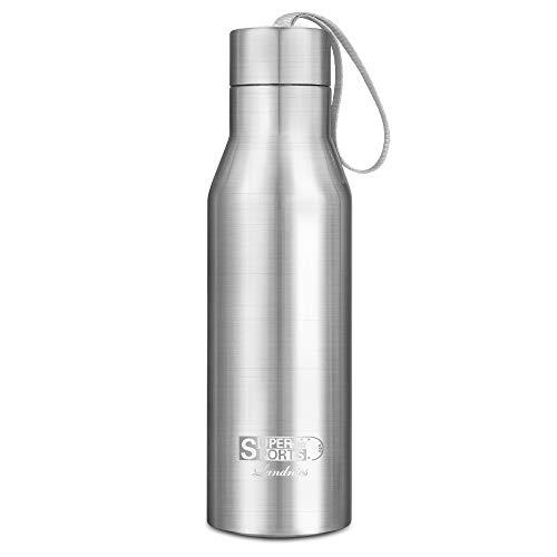 Bottiglia per acqua 720ml, landnics borraccia in acciaio inox bpa libero, borracce in acciaio 12 ore caldo e 24 ore freddo, bottiglia termica per esterno, ufficio, campeggio, viaggio e campeggio