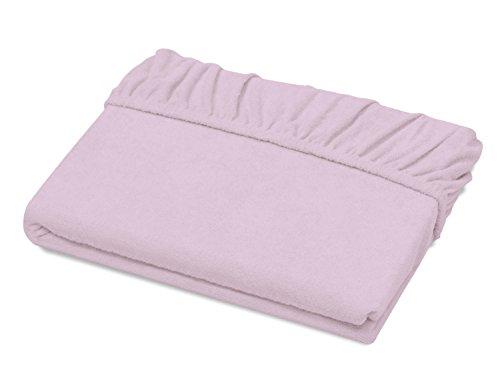 Schlafgut Spannbetttuch Frottee Stretch aus 75% Baumwolle & 25% Polyester - in 4 Größen & 26 Farben, ca. 90-100 x 190-200 cm, Viola