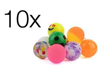 10x Flummi Springball Mitbringsel Hüpfball Giveaway Give aways für Kinder Geburtstags Mitgebsel Flummimasse in bunten Farben Mitgebsel / Kindergeburtstag für Jungen und Mädchen von TK-Gruppe