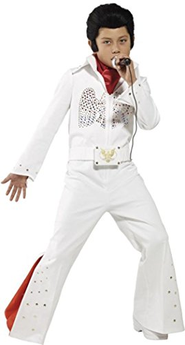 SMIFFYS ragazzi film & TV Elvis Presley Licensed Fancy Dress costume Elvis bianco