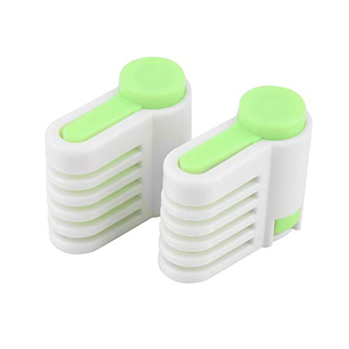 ForceSthrength Green 5 Layers Kitchen DIY Cake Bread Cutter Leveler Slicer Cutting Fixator Tools