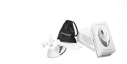 Womanizer Klitorisstimulator Pro Weiß - Set inkl. Toy-Reiniger, wasserbasiertem Gleitgel und Ersatzkappen (5 Stk.) - 9