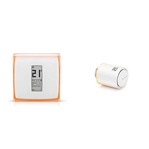 Smartes Thermostat für Heizkessel - Netatmo by Starck, Funktioniert mit Amazon Alexa & Netatmo NAV-DE Zusätzlicher Smarter Heizkörperthermostat