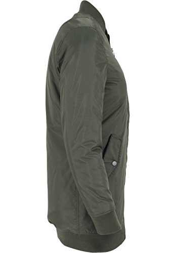 Urban Classics Long Bomber Jacket giacca da donna Verde (Olive)