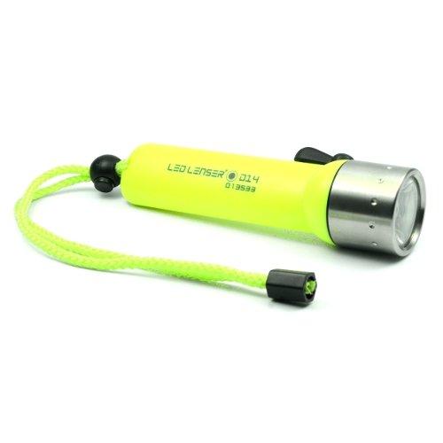 LED Lenser D14 wasserdicht LED Taschenlampe für Taucher Neon (Led-taschenlampe Neon)
