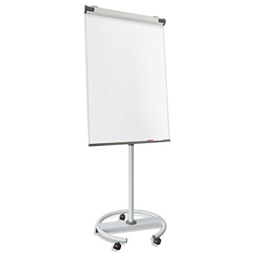 Master of Boards® Design Flipchart mit Rundfuß | mobil, Rollenfuß-Gestell | ausklappbare Papierhalter | Whiteboard mit Ständer | verstellbar