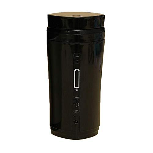 WanNing Thermobecher, tragbarer Kaffeebecher, wiederaufladbar, automatische Stromversorgung über USB Schwarz